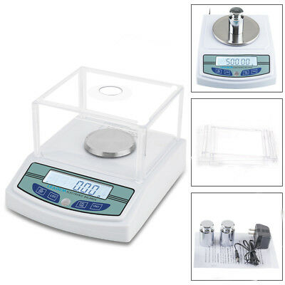 Analytical Balance 3000 x 0.01g Digital Lab Scale Precision LCD Rechargeable