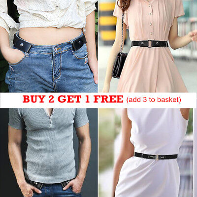 Buckle-Free Elastic Belts Womens Ladies Invisible Belt for Jeans No Bulge Hassle