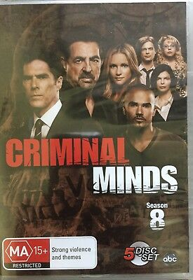 ON SALE FREE SHIPPING BRAND NEW Criminal Minds Season 8 5 Disk DVD Set