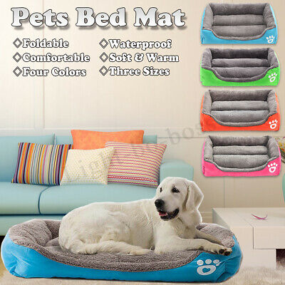 2019 Large Pet Dog Cat Bed Puppy Cushion House Warm Kennel Mat Blanket Washable