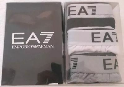 Mens 3 PACK NEW EA7 Cotton Boxers only size  S M L XL Free Post