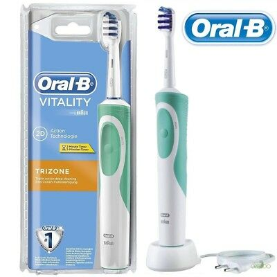 Cepillo Dental Electrico Oral B 2D Trizone Verde
