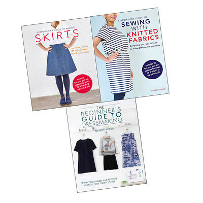 Wendy Ward Beginners Guide to Making Skirts,Dressmaking 3 books Collection Set
