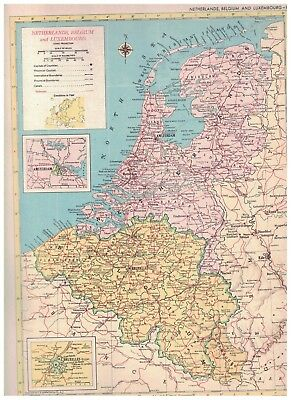 Map Of France Belgium And Luxembourg.Map Of Belgium Luxembourg By Hema Maps 3 95 Picclick