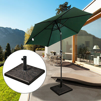 Garden Parasol Square Base Stand Heavy Duty Patio Garden Umbrella Stand Holder