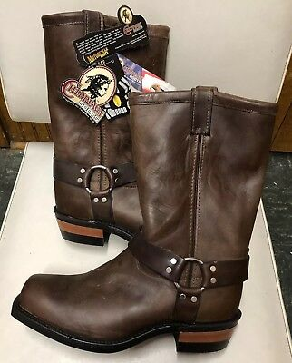 6fc2662060f6 NEW Men s CHIPPEWA 97868 MOTOR CYCLE HARNESS BOOT SIZE 11 1 2EE LEATHER  BOOTS