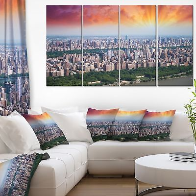 New York Beautiful Manhattan Skyline - Cityscape Canvas print - Blue
