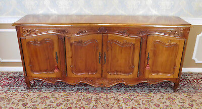 Fine Quality Large Cherry French Provincial Style Dining Room Buffet Sideboard