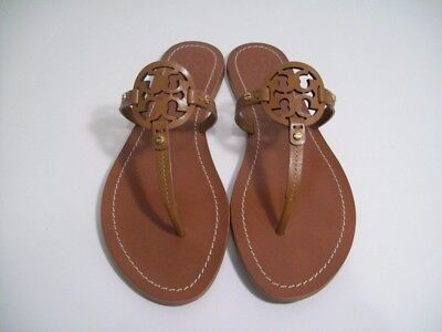 68c74abf177a68 TORY BURCH Mini Miller Thong Sandals Royal Tan Leather 9 New In Box FREE  SHIP