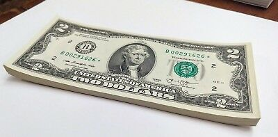 2013 Star Note New York $2 TWO Dollar Bills  uncirculated FW