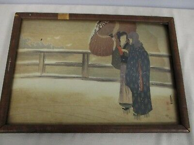 Antique Original Signed Japanese Woodblock Print