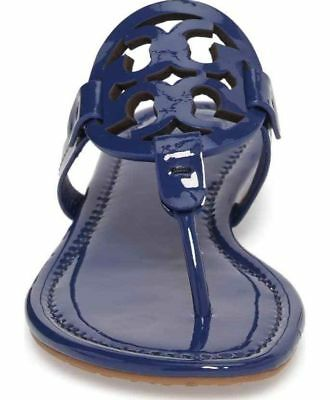 81c8b605218db5 Tory Burch Miller Sandals Patent Leather Blue Indigo Sz 9.5 New In Box  Dustbag