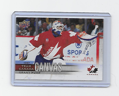Grant Fuhr 2017-18 Canadian Tire Team Canada #tcc-48 Canvas 1987 Ssp Rare
