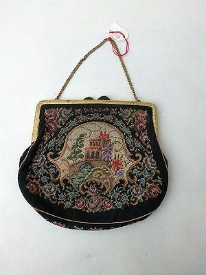 Gobelin Petit Point Stickerei Lupenstickerei Handtasche Abendtasche handarbeit