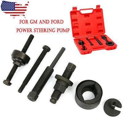 For GM Ford Power Steering Pump Pulley Kit C111 C12 Remover InstallationTool US