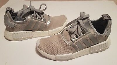 54bf936be Pre-Owned Adidas Womens NMD R1 Matte Silver S76004 Size 9