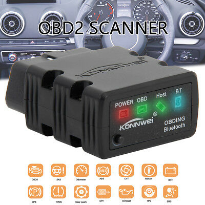 NEW ELM327 OBDII OBD2 Bluetooth Car Scanner Scan Tool Torque Android IOS iPhone