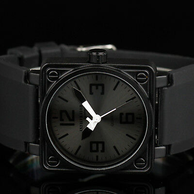 INFANTRY INFILTRATOR Mens Analog Wrist Watch Military Sport Black Rubber Outdoor