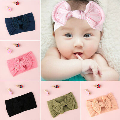 hair band beanie pac arc noeud bébé nylon bandeau fille turban ruban élastique
