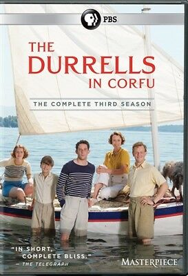 THE DURRELLS IN CORFU TV SERIES COMPLETE THIRD SEASON 3 New DVD PBS Masterpiece
