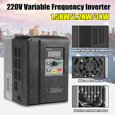 1.5/2.2/3KW 220V Single To 3 Phase Variable Frequency Drive Inverter Vector