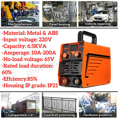 200Amp Portable Welding Inverter Machine Digital ARC Electric Household Welder