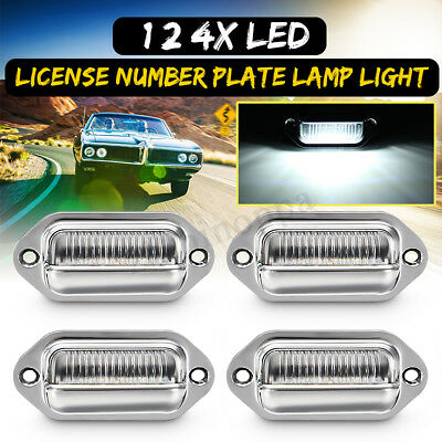 1/2/4x License Number Plate Light Door Lamp Step Bulb Walkway Truck Trailer 4LED