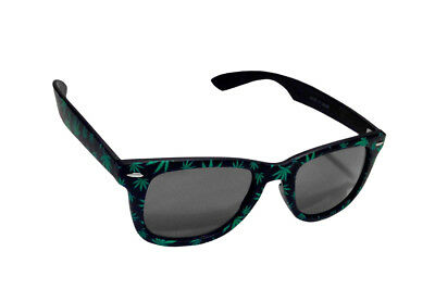 533a079469d4 Green Weed Pot Leaf Shaped Black Sunglasses 420 Glasses Marijuana Reefer  Party
