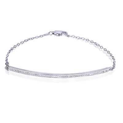 DB Designs Sterling Silver 1/4ct TDW Diamond Bar Bracelet