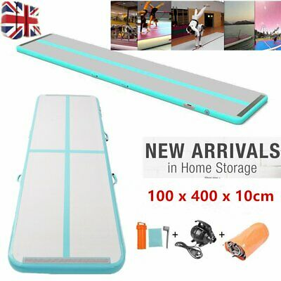 13ft Airtrack Air Track Floor Inflatable Gymnastics Tumbling Mat GYM & Pump Gree