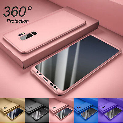 For Samsung Galaxy S9 / S9 Plus 360° Full Body Hard Case +Screen Protector Cover