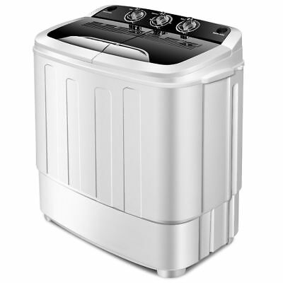 Costway Compact Mini Twin Tub 8lbs Washing Machine Washer Spinner