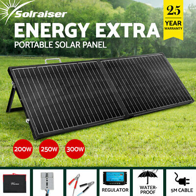 12V 200W 250W 300W Folding Solar Panel Kit Caravan Boat Camping Power Charging