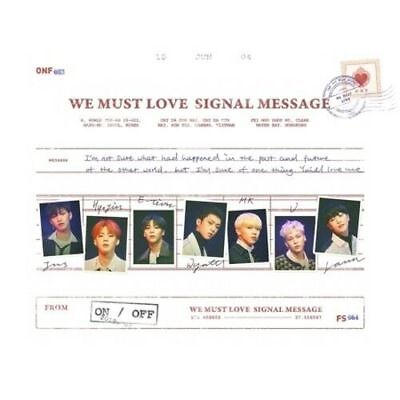 ONF - [We Must Love] 3rd Mini Album CD+Photobook+Card+Post+2p Photo K-POP Sealed