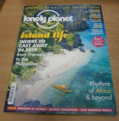 Lonely Planet magazine MAR 2019 Escape to an Island, Tour Italy by Classic Car &