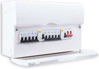 BG 10 Way Dual RCD Metal Consumer Unit Amendment 3 Compliant FUSE BOARD LOADED