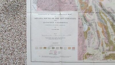 1900s Map Nevada South Of 40th Parallel Eastern California