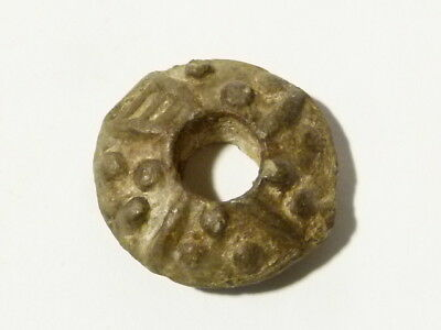 Medieval 12-14thC Spindle Whorl Metal Detector Find - Ex Martins Lot #CM90