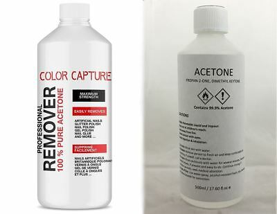 100% Pure Acetone Acrylic Nail Tips / Nail Glue / Nail Polish Remover 500ml