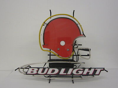 fa4932a5 CLEVELAND BROWNS NFL Football Neon Bud Light Beer bar sign Man Cave WORKS