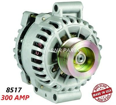 300 AMP 8517 Alternator Ford Mustang Shelby GT500 High Output HD Hairpin Perform