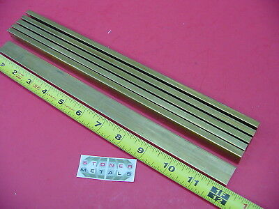 "6 Pieces 1/4"" x 1"" C360 BRASS FLAT BAR 12"" long Solid Mill Stock H02 .25""x 1.0"""