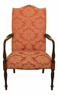 46583EC: HICKORY CHAIR CO Sheraton Mahogany Lolling Chair ~ NEW UPHOLSTERY