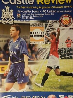 NEWCASTLE TOWN v FC UNITED of MANCHESTER 2006/07 with FREE UK Postage