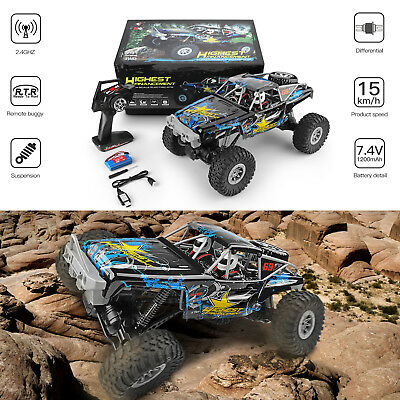 Wltoys 1/10 2.4GHz 4WD Waterproof Racing RC Car Off-Road Rock Electric Crawler L