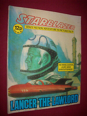Starblazer 9 Lancer The Lawlord Vintage UK Comic 1979 D C Thomson SF Sci-Fi