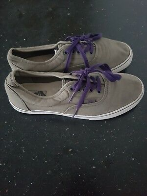 008784b91398 VANS OFF THE Wall Grey Shoe Trainers UK Size 7.5 Good Condition ...