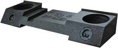 """Qpower Dual 10"""" Box for GMC Avalanche Bomb Under Seat Downfire"""