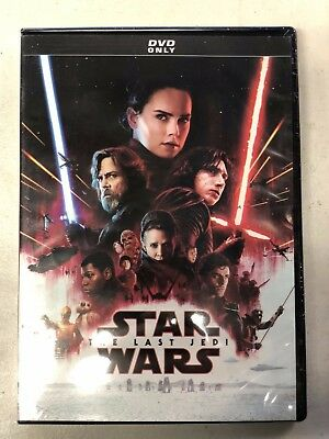 Star Wars The Last Jedi DVD New & Sealed Free Shipping