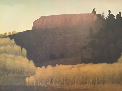 Russell Chatham Original Signed Fall Near Deadman's Gulch Tonalist Lithograph
